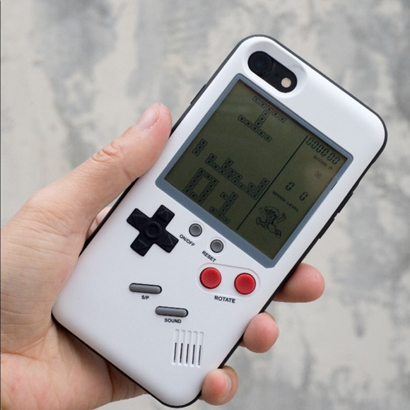 save off b7ea4 b1bd1 iPhone Retro GameBoy Phone Case White NWT